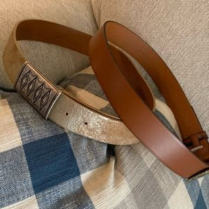 Two Ralph Lauren leather belts both Small